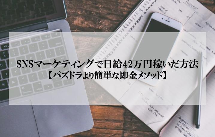 SNSマーケティングで日給42万円稼いだ方法を公開【パズドラより簡単です】